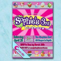 Shopkins Birthday Invitation - INSTANT DOWNLOAD - Printable ...