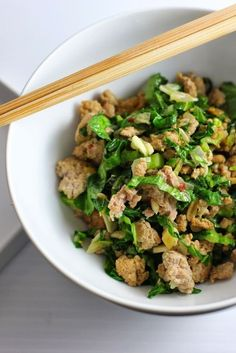 Minced Pork with Garlic and Mustard Greens Recipe | Fake Food Free