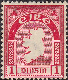 Postage Stamps of Eire Ireland 1922 SG 72 Map Fine Used Scott 65 Stamps For Sale Take a Look