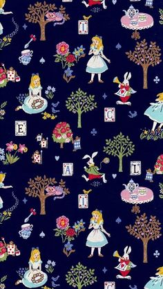 Wallpaper disney, wallpaper*iphone, backgrounds 😍, alice e lo stregatto, - Cartoon Wallpaper Iphone, Disney Phone Wallpaper, Wallpaper Backgrounds, Iphone Backgrounds, Colorful Wallpaper, Flower Wallpaper, Pattern Wallpaper, Alice In Wonderland Aesthetic, Disney Fabric