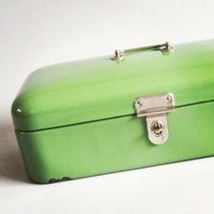 Groene wandhouder voor doos
