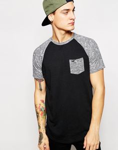 Hollister T-Shirt With Contrast Sleeves