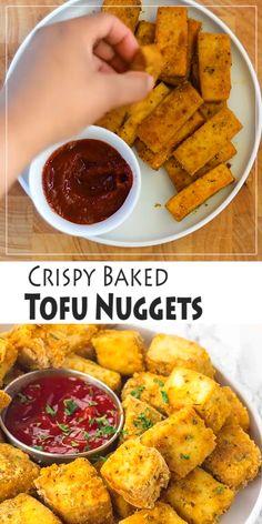 Vegan Dinner Recipes, Veggie Recipes, Appetizer Recipes, Whole Food Recipes, Cooking Recipes, Healthy Recipes, Simple Tofu Recipes, Recipes Using Tofu, Vegan Recipes Videos