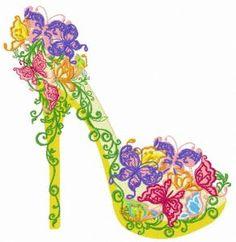 Floral high heel shoe 3