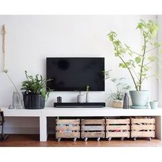 TV Stand Ideas – Nowadays, TV stand becomes one of the most essential home decorations. It completes the look of your home with a variety of materials and designs. TV stand ideas will also be helpful for people who are… Continue Reading → New Living Room, Interior Design Living Room, Home And Living, Living Room Decor, Living Spaces, Interior Livingroom, Build A Tv Stand, Diy Tv Stand, Muebles Living