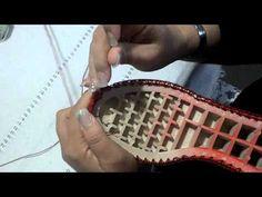 Tejido de zapatos a crochet 2 - YouTube