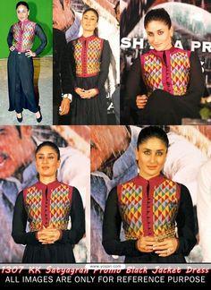 Kareena Kapoor Black Jacket Styles Salwar Kameez Model  YOS102