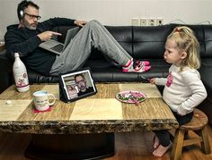 Dad by Dave Engledow- funny photos of a dad and his daughter!