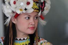 Dayak girl, Kalimantan, Indonesia