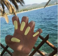 Trendy Yellow Nail Art Designs To Make You Stunning In Summerï¼›Acrylic Or Gel Nails; French Or Coffin Nails; Matte Or Glitter Nails; Acrylic Summer Nails Coffin, Acrylic Nails Yellow, Yellow Nail Art, Best Acrylic Nails, Acrylic Nail Art, Acrylic Nail Designs, Coffin Nails, Holiday Acrylic Nails, Summer Holiday Nails