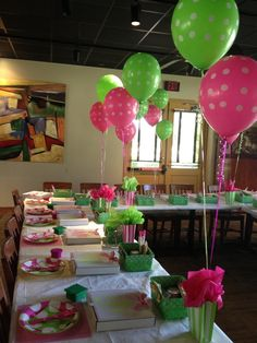 Pizza Party - Love the pink and green color combo