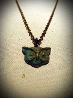 Patina Mr. Owl Necklace - $12