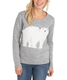 Women's Christmas jumper with fluffy polar bear detail. Womens Christmas Jumper, Christmas Jumpers, Christmas Time, Pullover, Knitting, Detail, Sweaters, Polar Bear, Shopping