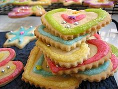 Iced and sugared cookies. Pretty for spring!!!