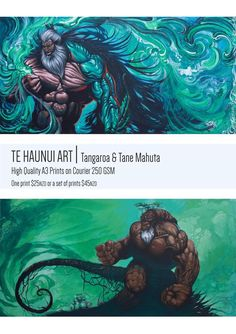 Maori God Prints Tangaroa Tane Mahuta Link in my bio Hawaiian Legends, Maori Legends, Maori Patterns, Warrior Drawing, Maori Designs, Nz Art, Maori Art, Art Curriculum, Pop Culture Art