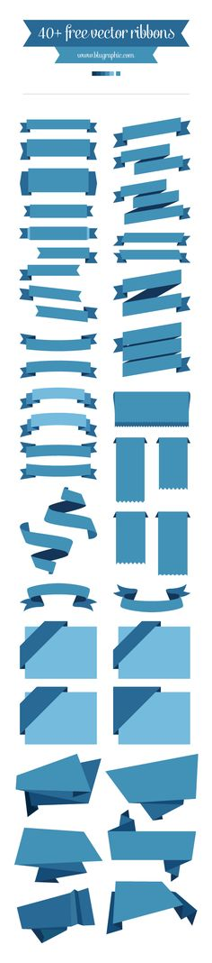 Free Vector Ribbons by Wassim Awadallah, via Behance