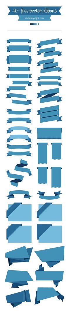 Free Vector Ribbons by Wassim Awadallah, via Behance