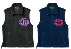 Monogrammed Fleece Vest Other Colors by ThePinkPineappleShop, $42.99 -- another one I need!!
