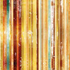 Papel de Parede Listras Coloridas em Parede Raspada - Papel de Parede Digital