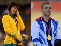 Two cycling greats - Anna Meares & Chris Hoy
