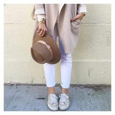 Gold superga and white &  beige combination