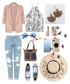"""""""Excursion on a sunny day))"""" by three-snails on Polyvore featuring мода, Topshop, Diesel, River Island, August Hat, Kate Spade, Estée Lauder и Chantecaille"""