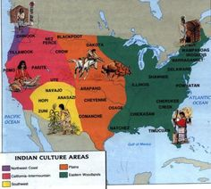 There are many different areas and regions where Native Americans settled. Main areas include Northwest, Woodlands and Southeast, Southwest, and Plains. Out of the over 300 languages that existed before the Europeans arrived, approximately 200 still exist.