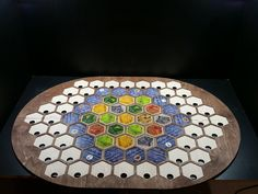 This board is designed for the Seafarers of Catan game or for people who just want to build their own custom map configurations. The board is modular so it can be set up as a 52 tile board that is 31