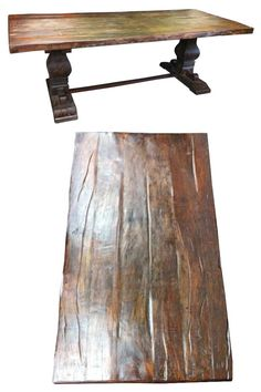 Old rustic dining table - similar to West Elm, check out tomorrow.