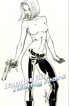 J SCOTT CAMPBELL DANGER GIRL 20TH ANNIVERSARY 1:5 VARIANT - W.B.