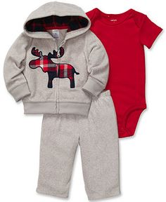 Carter's Baby Set, Baby Boys 3-Piece Cardigan, Bodysuit and Pants - Kids Baby Boy (0-24 months) - Macy's