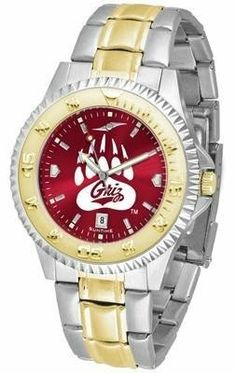 University of Montana Men's Stainless Steel and Gold Tone Watch by SunTime. $94.95.