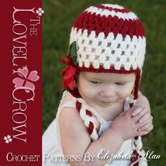 Baby Hat Crochet PATTERN for Holly by TheLovelyCrow, $5.95
