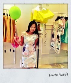Perfect Cup Day dress @ White Suede