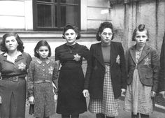 Vienna, Austria, 1941, Jews wearing the Jewish badge. My friend Max fled in 1938- just in time, with only the shirt on his back- after having a successful career as a university physics professor. We cannot forget...