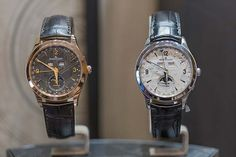 @jlcwatches's new Master Calendars with meteorite dials. #jaegerlecoultre #watchtime #luxurywatch