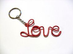 Personalized Wire Name Keychain by GianneCREATIONS on Etsy, $11.50