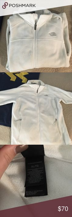 Northface jacket White fleece north-face jacket! North Face Jackets & Coats