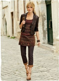 Elegant Dolce Leather Jacket from Peruvian Connection. Beautifully tailored women's lightweight jackets for spring, made with the finest fibers and best fit. Fall Fashion Outfits, Edgy Outfits, Denim Fashion, Look Fashion, Spring Outfits, Retro Fashion, Autumn Fashion, Cute Jackets, Jackets For Women