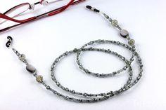 Brillenketten - Brillenkette Silbern-Grau Glasperlen - ein Designerstück von Inezza-Geschenke bei DaWanda