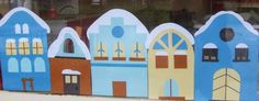 Téli házikók - dekoráció - Játsszunk együtt! Techno, Art For Kids, Kindergarten, School, Children, Winter, Advent, Crafts, Christmas