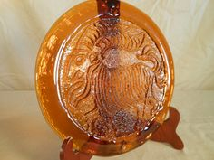 Items similar to Large Vintage Horoscope / Astrology Amber Glass Capricorn Goat Sun Catcher on Etsy Capricorn Goat, Sun Catcher, Amber Glass, Horoscopes, Astrology, Decorative Plates, Unique Jewelry, Handmade Gifts, Etsy