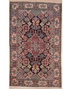 Semi-antique Persian Arak Area Rug 2878 - Area Rug
