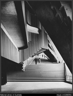 Sievers, Wolfgang, [Stairs inside the] Sydney Opera House, Sydney [ca. City Architecture, Amazing Architecture, Sydney Opera, Stair Plan, Sydney Photography, Jorn Utzon, Terra Australis, Visit Sydney, House Fan