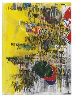 """Despina Stokou – """"The Martin Creeds 5 (yellow)"""" (2013), mixed material on canvas, 120 x 160 cm; courtesy the artist and Krobath Wien/Berlin"""