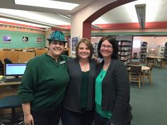 Happy Saint Paddy's Day from (left to right): Miss K, Miss Q and Miss L