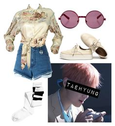 Taehyung Inspired Outfit #7 by flaviaazevedo2000 on Polyvore featuring polyvore fashion style Hermès H&M GCDS House of Holland clothing kpop bts bias taehyung