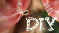 |DIY| Ohrklemme aus Draht - Ear Cuff - Schleife - Ohr-Manschette - super...