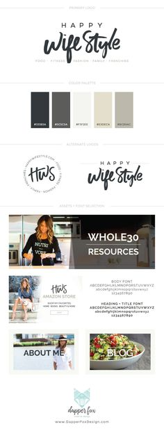 Portfolio :: Branding + Website Design - Happy WifeStyle — Dapper Fox Design - Branding + Website Design
