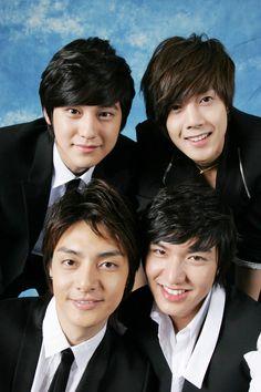 Lee Min Ho and from Boys Over Flowers. F4 Boys Over Flowers, Boys Before Flowers, Flower Boys, Kim Bum, Jung So Min, Asian Actors, Korean Actors, Korean Dramas, My Shy Boss